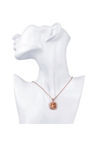 Rose Gold Square Diamond-Shaped Necklace