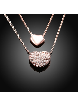 Double love pendant Necklace