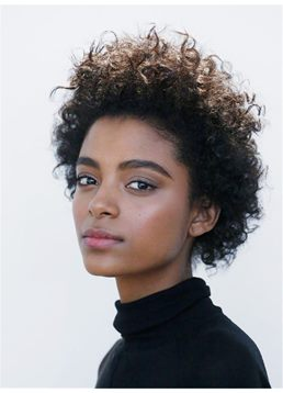 Fluffy Natural Brown Loose Kinky Curly Short Synthetic Hair Lace Front Afro Wigs 8 Inches