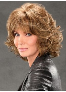 Jaclyn Smith Mid-length Shag with Spiral Curls Capless Synthetic Wig 12 Inches