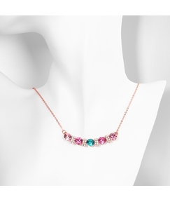 Colourful Row Drilling Zircon Necklace