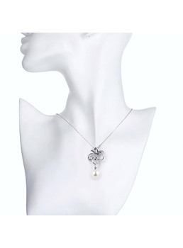 Butterfly Design Alloy E-Plating Pearl Necklace