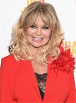 Goldie Hawn Medium Curls with Bangs Synthetic Hair Capless Wig 14 Inches