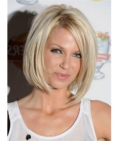 New Bob Synthetic Nature Straight Hair Lace Front Wig 12 Inches