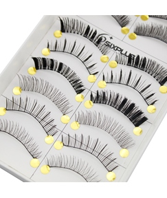 10 Pair Super Long Nature Black False Eyelashes 28 mm