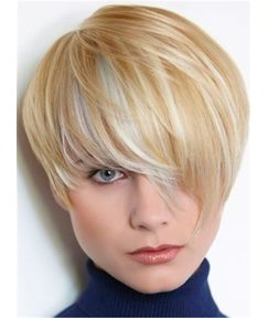 Layered Hairstyle Charming Bob Straight Short 100% Human Hair Capless Women Wigs 6 Inches