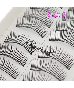Super Long 10 Pair 28 mm Nature Black False Eyelashes