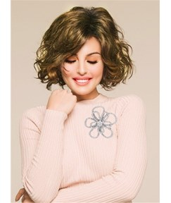 Short Curly Bob Synthetic Hair Capless Women Wig 10 Inches