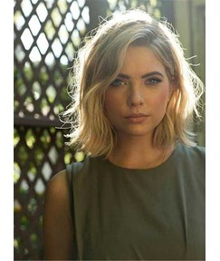 Blunt Cut Short Straight Synthetic Hair Women Lace Front Wig 12 Inches