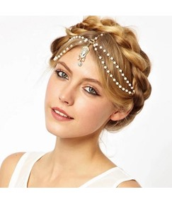 European Diamante Pearl Tassel Hair Accessories