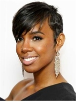 Pixie Boycut Sexy Summer Charming Layered Hairstyle 100% Human Short Hair Capless African American Wigs 6 Inches