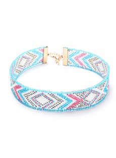 Colorful Beads Inlaid Ethnic Choker Necklace