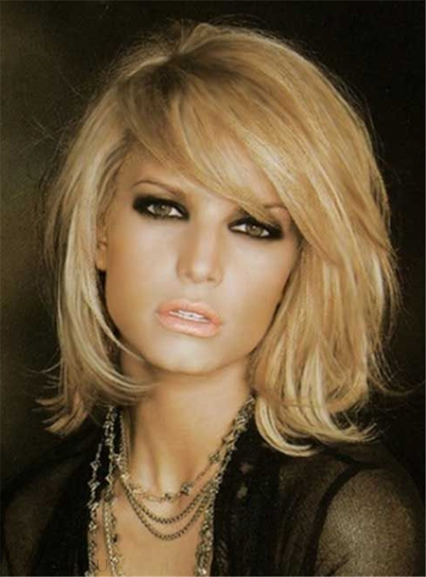 Shaggy Layered Nature Straight Free Part Synthetic Capless Wig 12 Inches