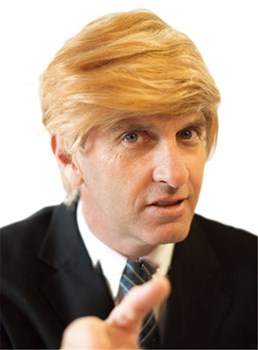 Donald Trump Costume Straight Synthetic Hair Capless Men Wig