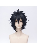 Final Fantasy 15 Noktiz Bluish Gray Straight Synthetic Hair Capless Cosplay Wig 10 Inches