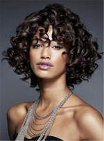 Short Natural Kinky African American Curly Synthetic Hair Capless Women Wigs 10 Inches