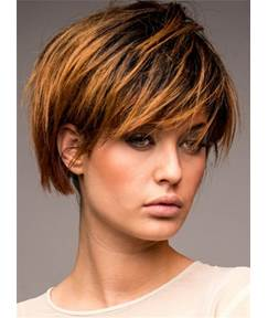 Short Messy Peaceful Straight Charming Synthetic Hair Capless Women Wig 8 Inches