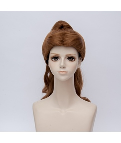 Beauty And The Beast Belle Brown Straight Synthetic Hair Capless Coslpay Wig 18 Inches