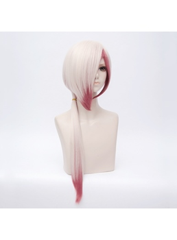 Onmyouji Pink Ombre Straight Synthetic Hair Capless Cosplay Wig 28 Inches