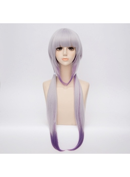 Miss Kobayashi's Dragon Maid Purple Ombre Synthetic Straight Capless Cosplay Wig 30 Inches
