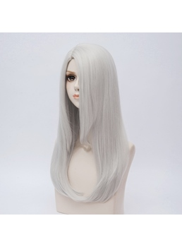 YURI!!! On ICE Long Gray Straight Synthetic Hair Capless Coslpay Wig 24 Inches