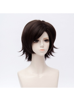 Mystic Messenger Jumin Han Natural Black Straight Synthetic Hair Capless Cosplay Wig 10 Inches