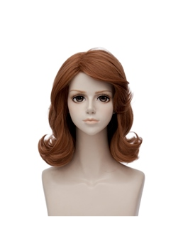 Princess Sofia Brown Wavy Synthetic Hair Capless Coslpay Wig 14 Inches