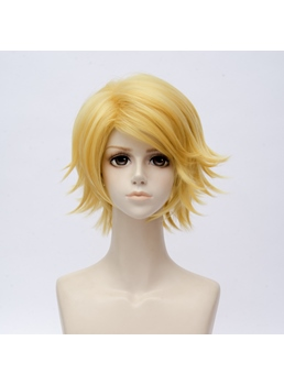 Mystic Messenger Yoosung Blonde Straight Synthetic Hair Capless Cosplay Wig 10 Inches