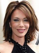 Layered Cool Shaggy Bob Hairstyle Short Straight Human Hair Wig 10 Inches