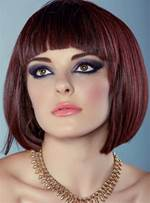 Short Bob Silky Classical Straight Synthetic Hair Capless Women Wigs 10 Inches