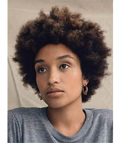 Short African American Youthful Curly Lace Front Synthetic Hair Women Wig 10 Inches