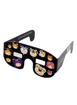Solar Eclipse Viewing Glasses Plastic Frame Glass