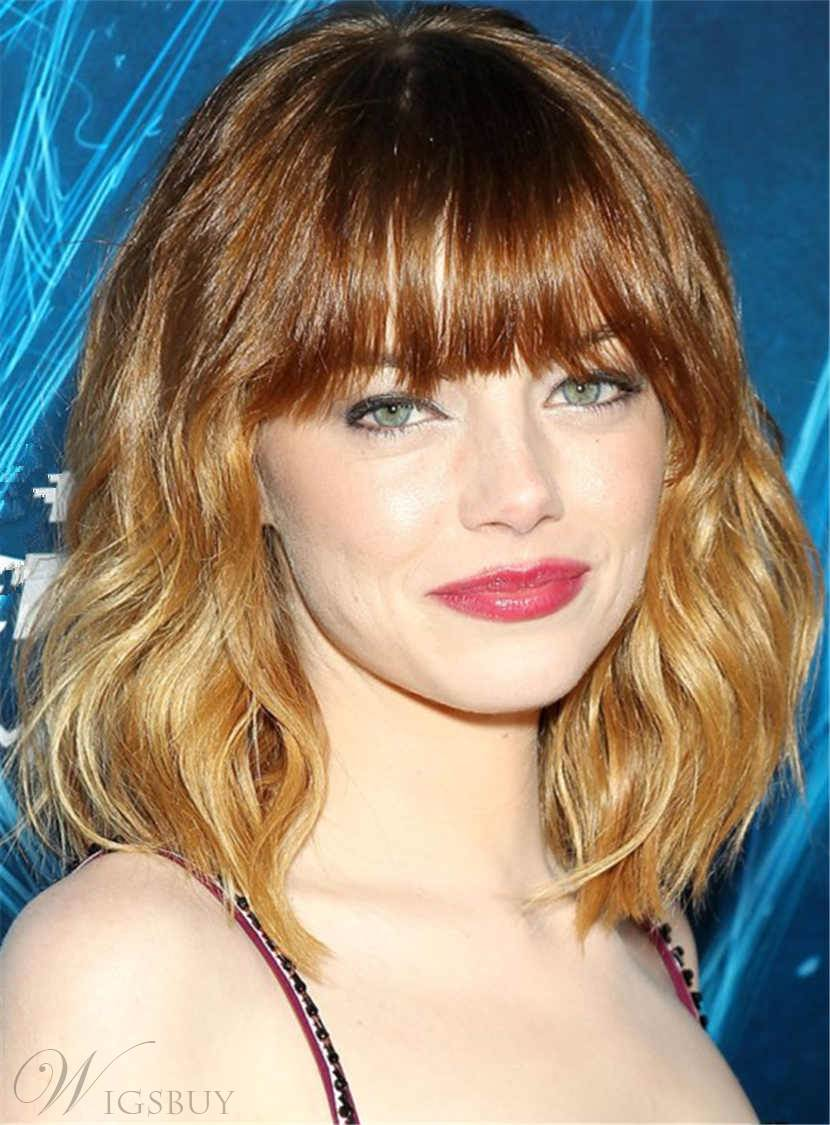 Medium Bob Popular Charming Wavy Synthetic Hair Capless Women Wigs 14 Inches 12876157