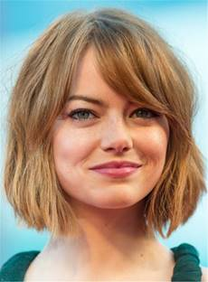 Short Elegant Bob Hairstyle Straight Human Hairs Capless Women Wigs 10 Inches