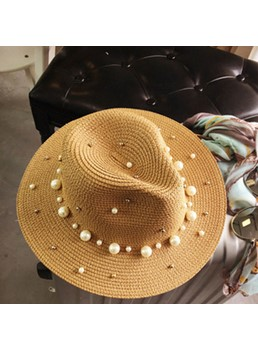 Pearl Inlaid Fedora Hat Unique Jazz Hat