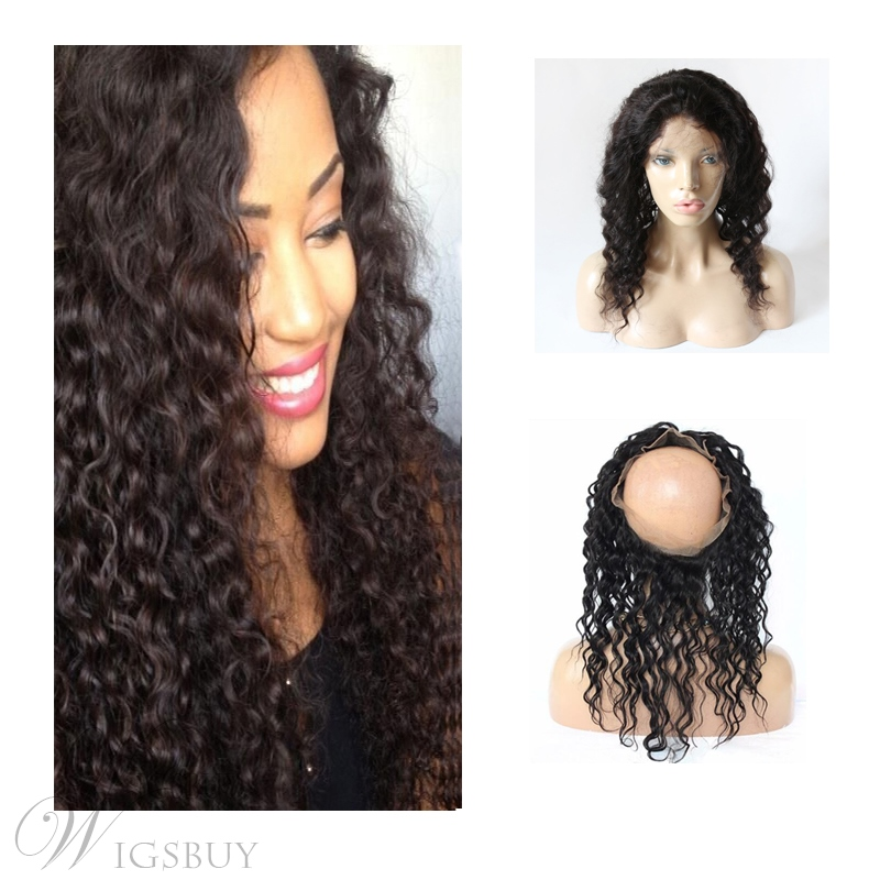 360 Lace Frontal Wigs Human Hair Lace Curly Women Closure