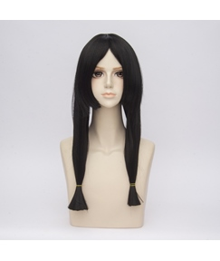 Long Black Braid Straight Synthetic Hair Capless Cosplay Wig 26 Inches