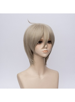 Onmyouji Natural Straight Silver Gray Purple Synthetic Capless 12 Inches