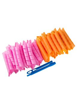 Magic Hair Curler Curlers Spiral Styling Rollers DIY Tool 45cm 10PCS/SET ( Color Random )