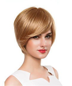 Mishair® Short Bob Straight Human Hair Capless Wig 10 Inches