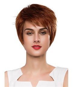 Mishair® Cool Short Straight Hair Human Capless Wig 10 Inches