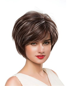 Mishair® Loose Short Straight Human Hair Capless Wig 10 Inches