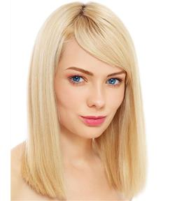 Medium Silky Popular Polished Straight Synthetic Hair Capless Women Wig 12 Inches