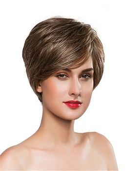Mishair® Short Cut Straight Human Hair Capless Wig 10 Inches
