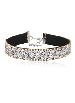 Full Drill Diamante Torques Choker Necklace