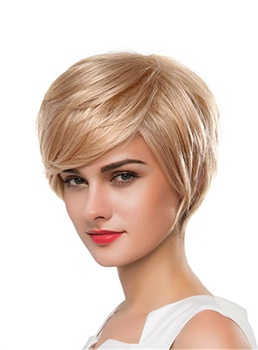 Mishair®Short Straight Human Hair Capless Wig 10 Inches