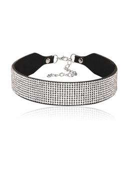 Full Drill PU Diamante Shining Choker Necklace