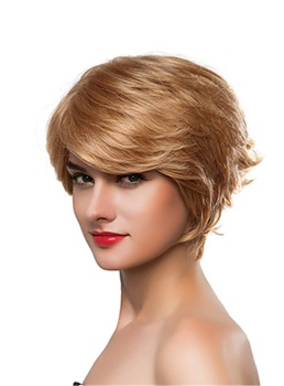 Mishair® Short Wavy 100% Human Hair Capless Wig 10 Inches