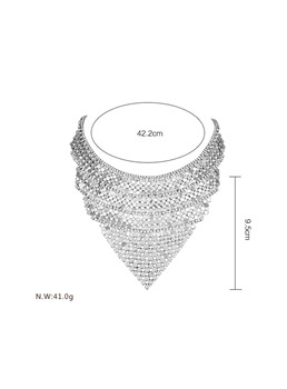 Multilayer Full Drill Sequins Exaggerated Styles Choker Necklace