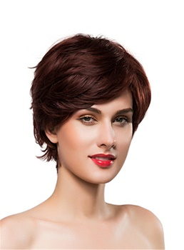 Mishair® Short Wavy Cut Human Hair Capless Wig 10 Inches